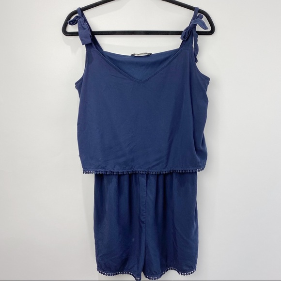 ONLY dark blue romper with spaghetti straps